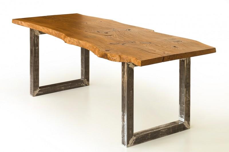 Dinner table from solid single plank Oak wood | №26 | Desart