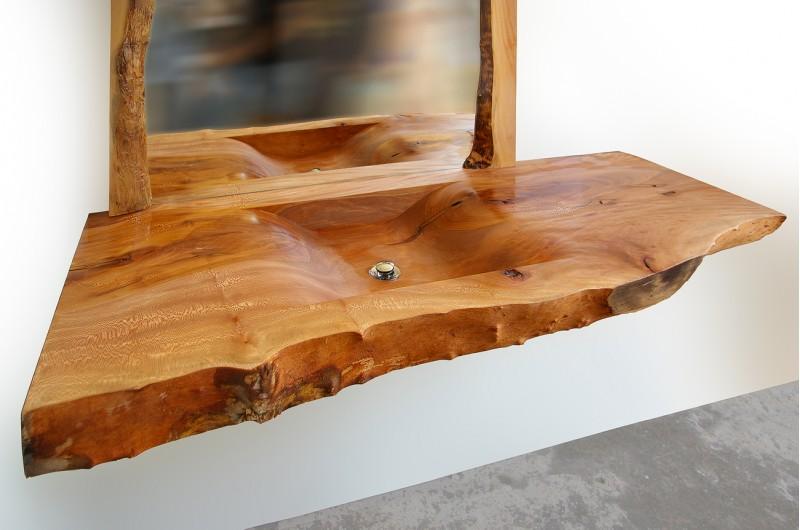 Дървена мивка от масивен чинар №3