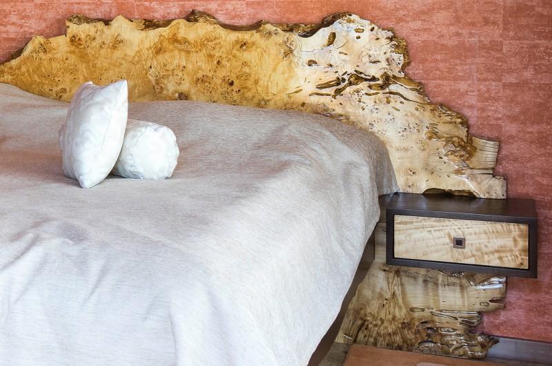 Λεύκες κόμπος μασίφ ξύλο κρεβάτι №1