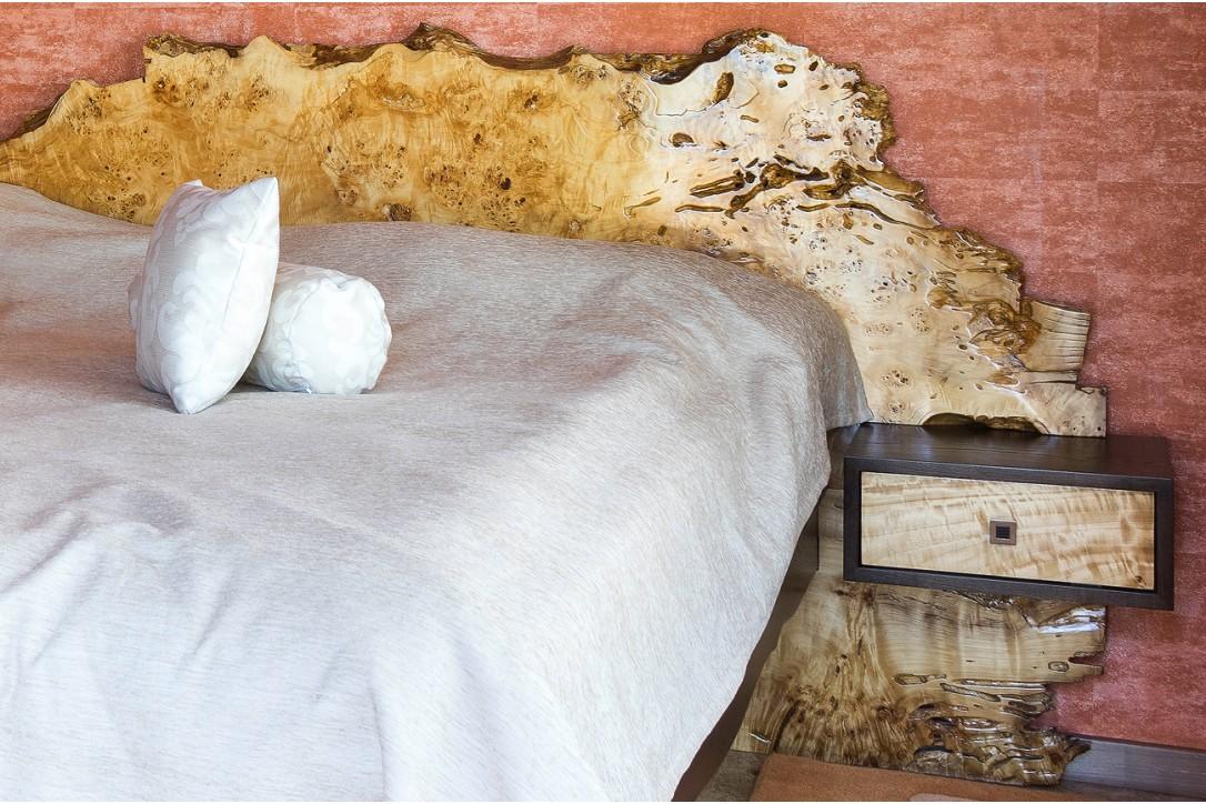 Birdseye Poplar Burl Wood Bed №1