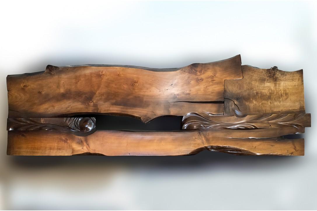 Solid Poplar Wood Bed №2