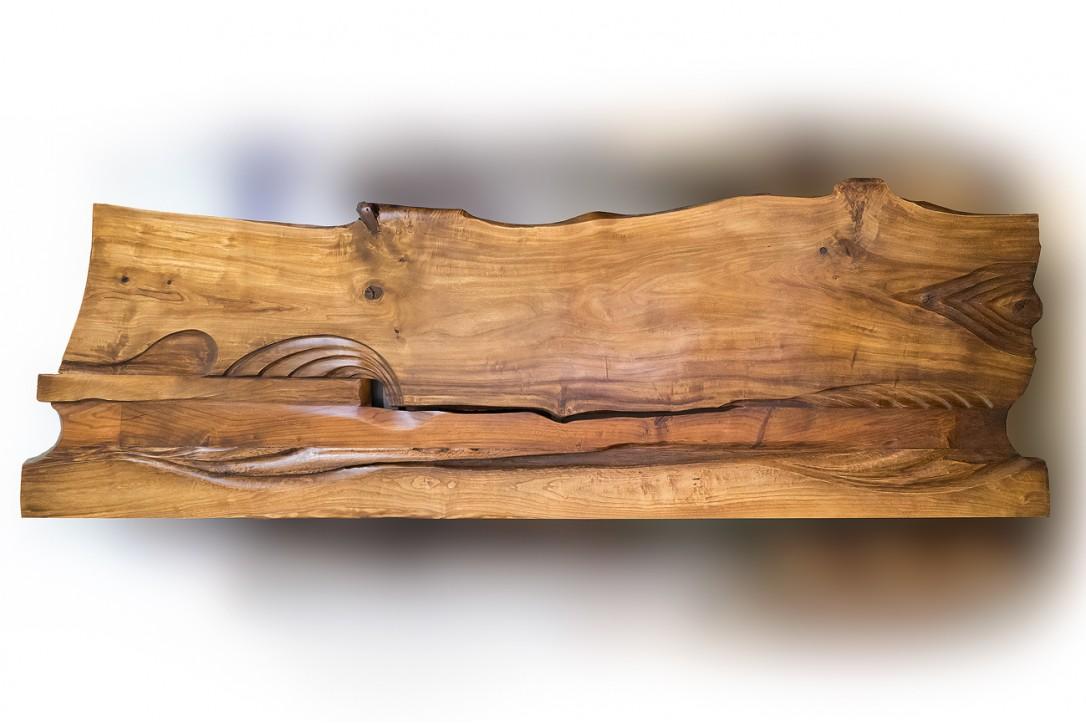 Solid Poplar Wood Bed №3