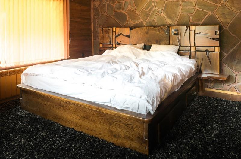 Λεύκες κόμπος μασίφ ξύλο κρεβάτι №5