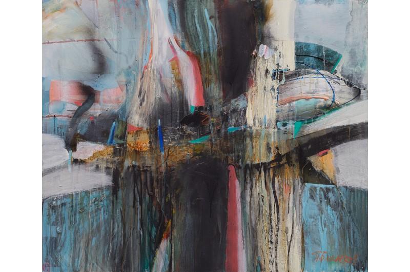 Eindruck II - Abstrakte Malerei von Peter Bajlekov