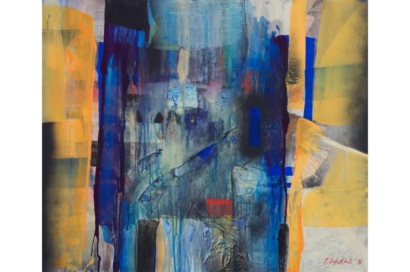 Discussion I - Peinture abstraite par Peter Bajlekov