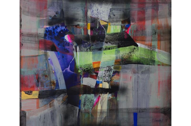 Fugato II - Abstrakte Malerei von Peter Bajlekov