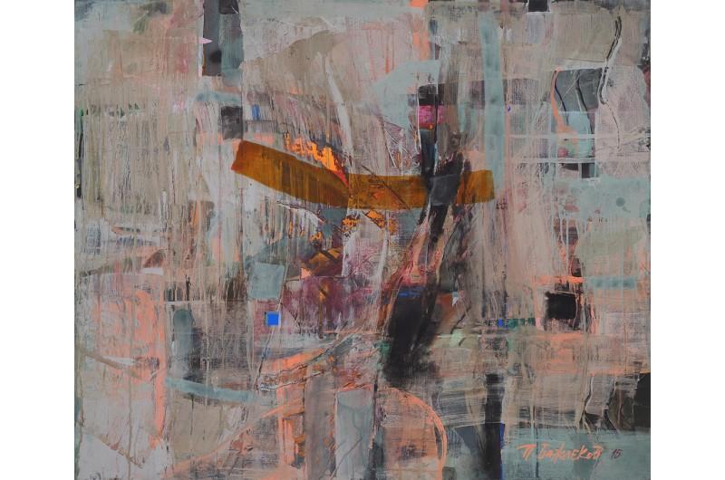Композиция II - Абстрактна картина от Петър Бажлеков