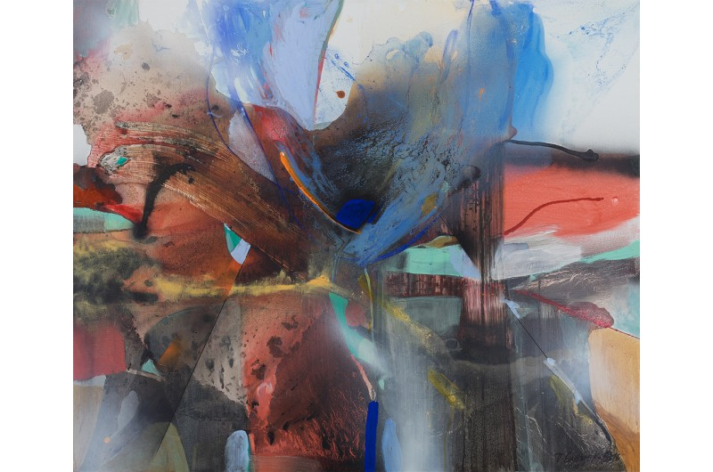 Композиция III - Абстрактна картина от Петър Бажлеков