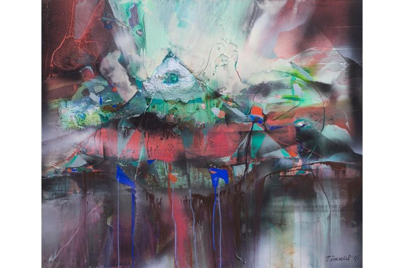 Композиция IV - Абстрактна картина от Петър Бажлеков