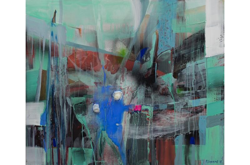Dans le nord I - Peinture abstraite par Peter Bajlekov
