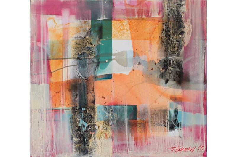 Импресия VI - Абстрактна картина от Петър Бажлеков