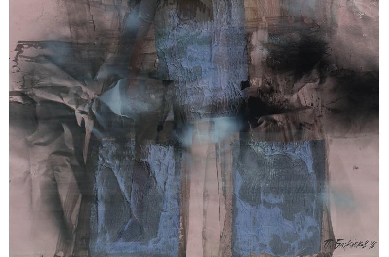 Dessin II - Peinture abstraite par Peter Bajlekov