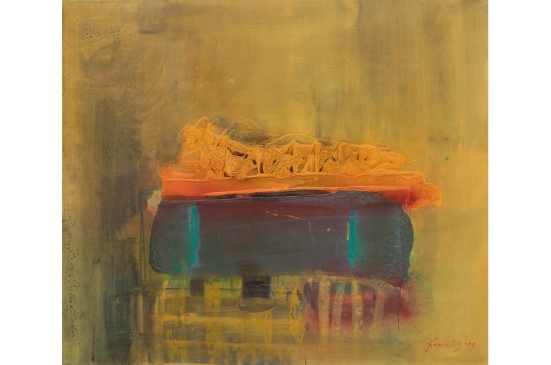 Композиция I - Абстрактна картина от Петър Бажлеков