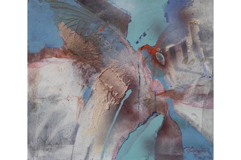 Антично - Абстрактна картина от Петър Бажлеков