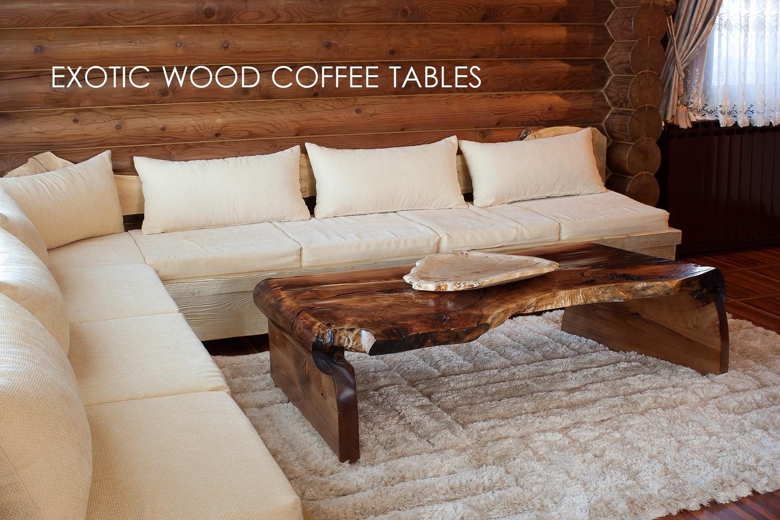 Εξωτικά τραπέζια από ξύλο καφέ